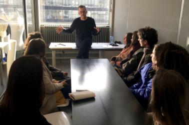 visite à la Gerrit Rietveld Academie-département Mode-directeur du département Niels Klavers