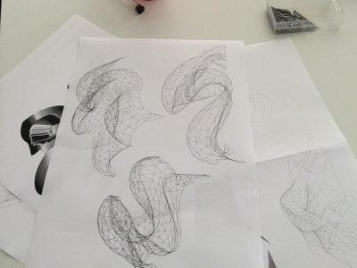 courbes de nurbs espace