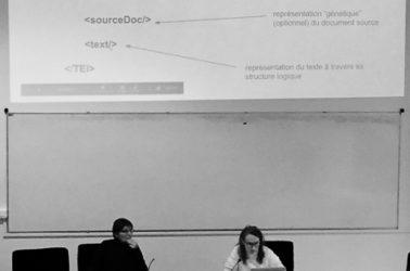 conférence sur le web sémantique avec Michèle Brunet, chercheur en épigraphie